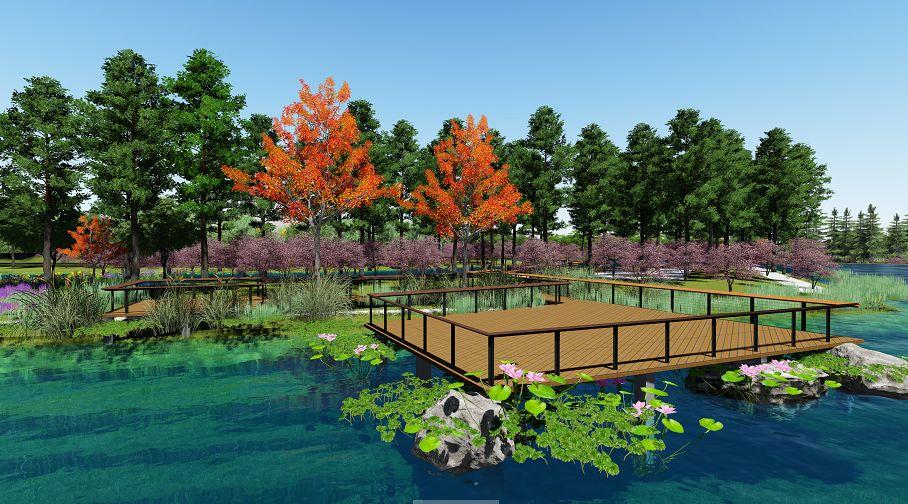 生态走廊二期效果图 截至目前,生态走廊二期已完成河道开挖,景观造型,钢箱梁景观桥架设及园路基础;半地下停车库及其配套设施已完成主体结构;乔木共4365棵、灌木69261平方米,种植已完成90%。 整个生态走廊二期,预计于2018年4月底向市民开放。 记者周科娜 通讯员沈渭东 陈晓艳 摄影刘波