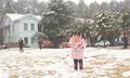 四明山迎来狗年首场降雪