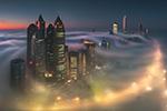 迷雾中的阿布扎比 美若天外之城人间仙境