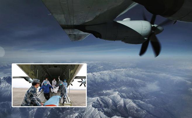 空军出动运-9抢救病危军人