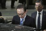 韩前总统李明博结束收监程序 被关10平米单人牢房