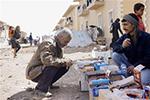 避难所里的叙利亚民众