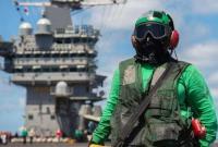 美军航母率大批舰队集结叙利亚周边