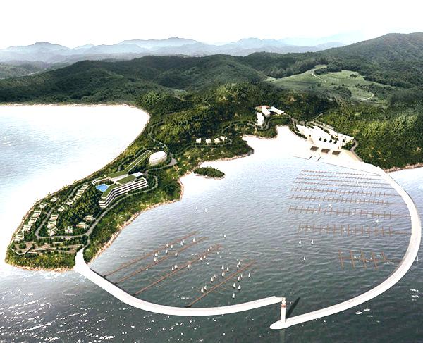 滨海工业园,亚帆中心项目施工现场,鹤浦镇小百丈村民宿建设现场,双下