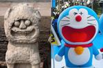 """太原文庙石狮被戏称哆啦A梦""""始祖"""""""