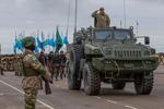 哈萨克斯坦武装力量为盛大阅兵式进行彩排