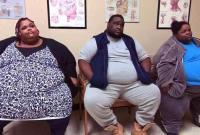 美国三兄妹体重相加近1吨