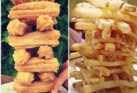 城会玩!食物叠放照片风靡国外社交网络