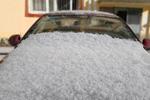 四川现罕见冰雹天气 最大直径达15毫米