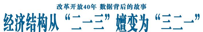 """经济结构从""""二一三""""嬗变为""""三二一"""""""
