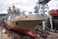 俄第二艘两栖登陆舰正式下水 排水量5000吨