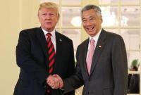 特朗普与新加坡总理李显龙举行会晤 并共进午餐