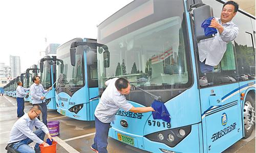 镇海首批20辆纯电动公交车投放