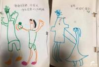 6岁女孩手绘漫画 记录父女相处点滴
