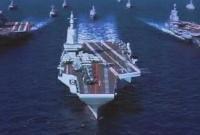 弹射型国产航母效果图曝光?