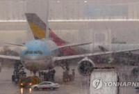韩国金浦机场发生客机碰撞事故 部分机体受损