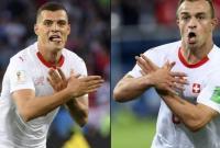 因为这个庆祝动作 国际足联对瑞士队球员做出处罚