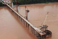 中老铁路跨湄公河特大桥主桥基础施工全面完成