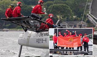 中国宁波一号帆船队勇夺世界大赛首金