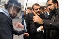 法总统保镖戴警察头盔街头痛打示威者引风波:已被立案调查