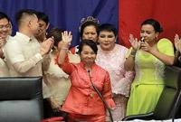 菲律宾前总统阿罗约当选新一任众议长
