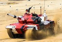 """首战告捷 """"坦克两项""""比赛中国代表队取得首日比赛第一名"""