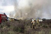 墨西哥一架民航客机坠落