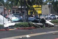美国加州一架小飞机坠毁在南岸广场购物中心 5人丧生
