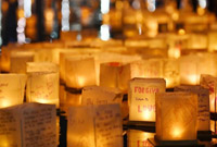 美国马里兰州举行水灯节