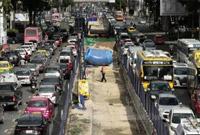 曼谷有多堵?公交1小时走不到300米