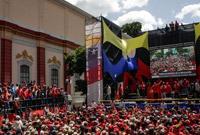 委内瑞拉民众集会支持总统马杜罗