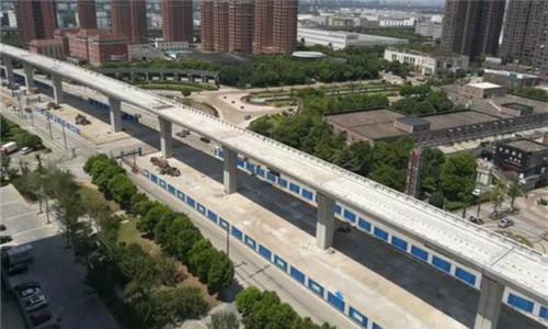 轨道交通2号线二期最新进展 高架段工程基本完工