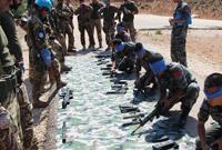 中意赴黎维和官兵联合开展应急防卫和医疗救援训练