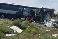 美国新墨西哥州一巴士遇严重车祸已致4死 逾40人被送医
