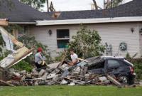 加拿大龙卷风风灾 受灾居民区一片狼藉