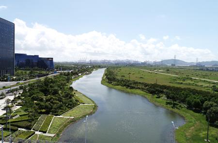 北仑梅山大河:盐碱地上打造美丽