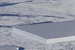南极现长方形冰山 平整如巨刀切割 网友:外星人杰作