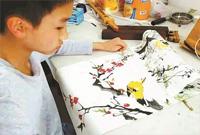 13岁少年卖画救患癌姑姑 姑姑曾为抚养侄儿弃成家