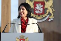 祖拉比什维利宣誓就任格鲁吉亚总统