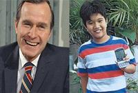 最意外笔友:菲律宾男孩受老布什匿名资助十年 通信内容暖心