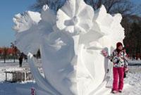 第二十五届全国雪雕比赛在哈尔滨落幕