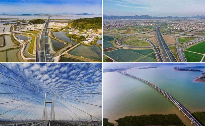 浙江沿海高速公路基本全线贯通 来看下美图