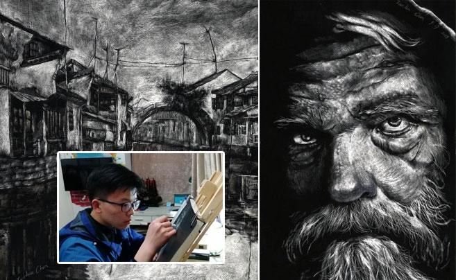 了不起!宁波这名学生成为中国最年轻刮版画艺术家