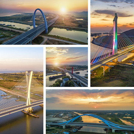 《环巢湖大桥(航拍组图)》