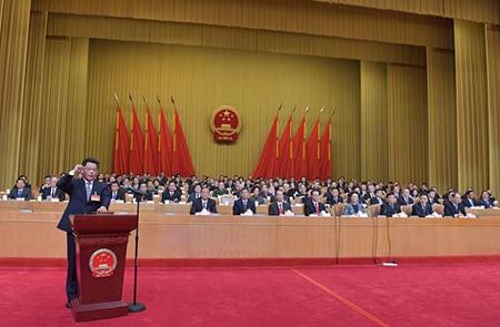 省十三届人大二次会议举行宪法宣誓仪式