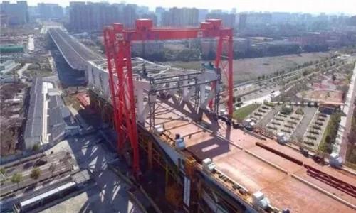 三官堂大桥预计本月底完成龙门吊安装调试工作