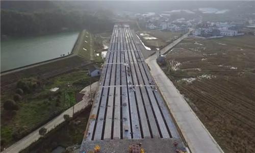 好消息!石浦高速定塘连接线进度过半!