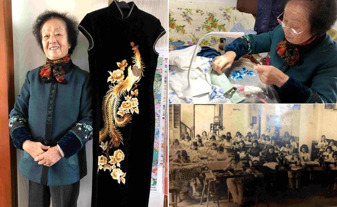 以针作画以线为墨 象山80岁绣娘绣出人生