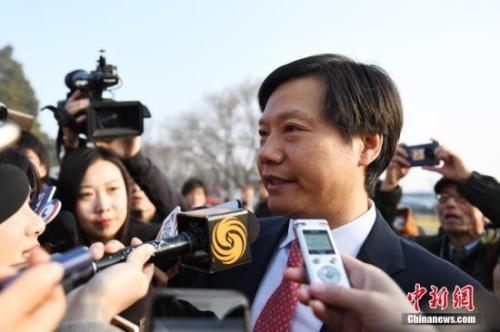 雷军。<a target='_blank'  data-cke-saved-href='http://www.chinanews.com/' href='http://www.chinanews.com/'>中新社</a>记者 张娅子 摄