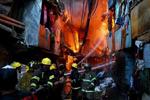 菲律宾一贫民区发生火灾